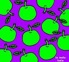 La Mela Isola - She'll Be Apples Cushion by la-mela-isola