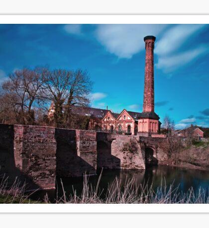 Powick Bridge and Mill Sticker
