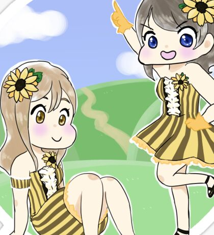 Sunflower Girls Sticker