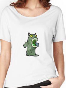 cartoon monster Women's Relaxed Fit T-Shirt