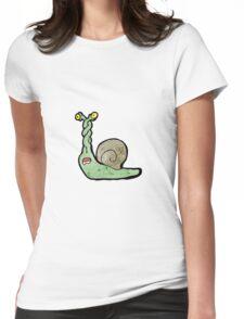 cartoon snail Womens Fitted T-Shirt