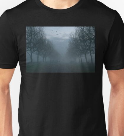 Geese and Fog, a Winter evening. Unisex T-Shirt