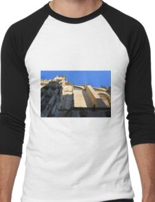 The Cathedral of Saint Mary of the See, Seville Cathedral, in Seville, Andalusia, Spain. Gothic style architecture in Spain. Men's Baseball ¾ T-Shirt