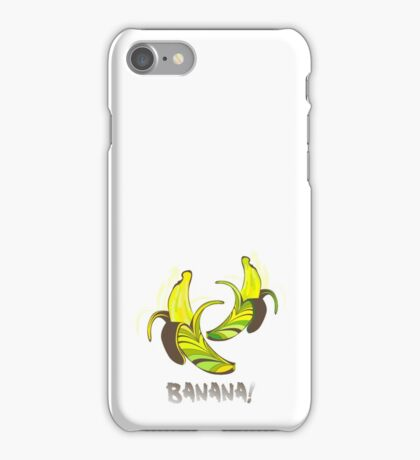 Banana in a retro style iPhone Case/Skin