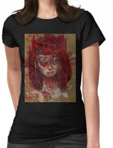 Red Goddess Womens Fitted T-Shirt