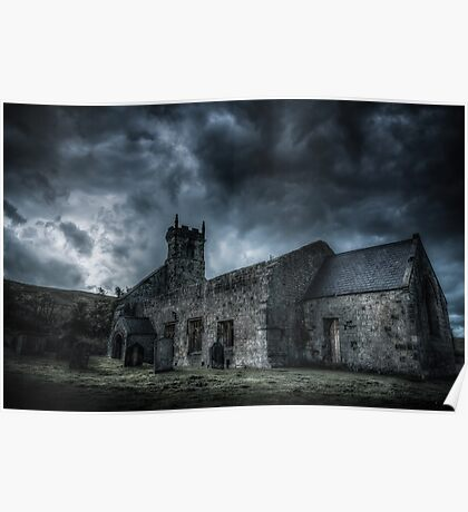 Deserted Church of Wharram Percy Poster