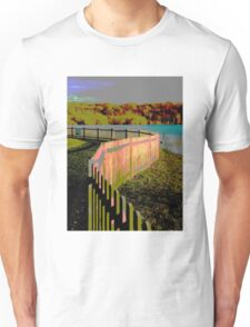 Curved fence Unisex T-Shirt