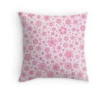 Fantastic flowers pattern (in pink) Throw Pillow