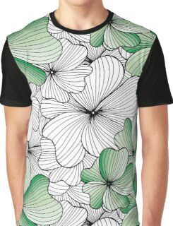 green flowers pattern Graphic T-Shirt