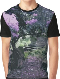 Blossoming Graveyard Graphic T-Shirt