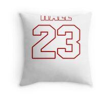 NFL Player DeAngelo Hall twentythree 23 Throw Pillow
