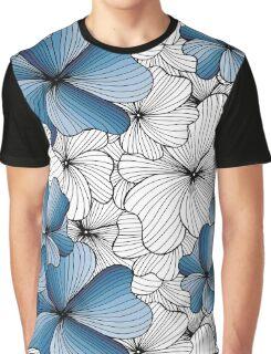 blue flowers pattern Graphic T-Shirt