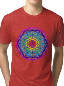 Flower of Life - Trippy Tri-blend T-Shirt