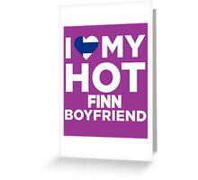 I Love My Hot Finn Boyfriend Greeting Card