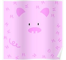 Cute pig buta design Poster