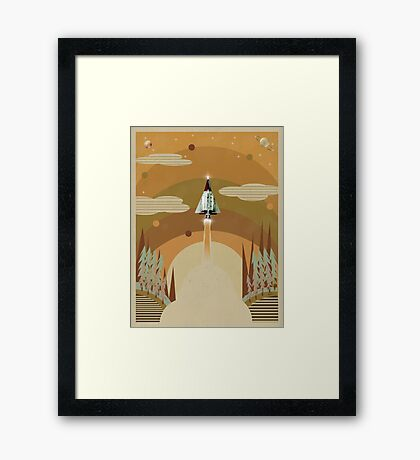 the adventure continues Framed Print