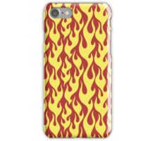 yellow fire flames on yellow background iPhone Case/Skin