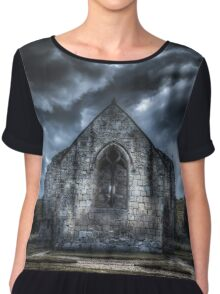 Deserted Church of Wharram Percy Chiffon Top