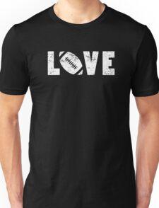 I Love Football Illustrated Pun Word Art Emoji Style Graphic Tee Shirt Unisex T-Shirt