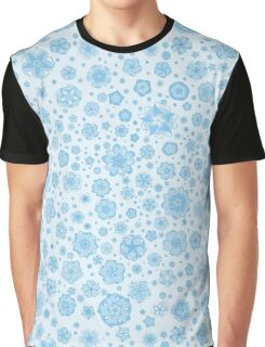 Fantastic flowers pattern (in blue) Graphic T-Shirt