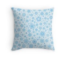 Fantastic flowers pattern (in blue) Throw Pillow