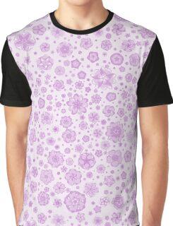 Fantastic flowers pattern (in purple) Graphic T-Shirt