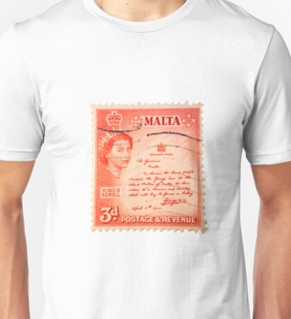 Maltese Stamp  Unisex T-Shirt