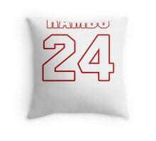 NFL Player Bacarri Rambo twentyfour 24 Throw Pillow