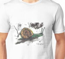 Green Wild Ink Snail - 'What?' Unisex T-Shirt