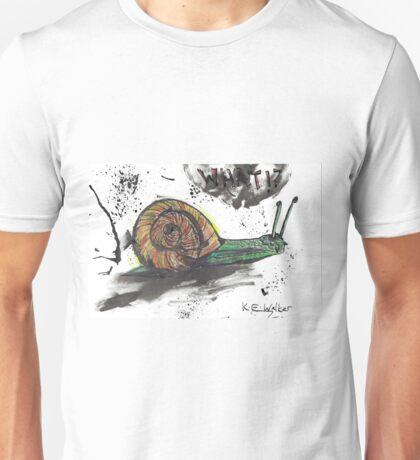Green Wild Ink Snail - 'What?' Unisex T-Shirt
