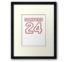 NFL Player Jamarca Sanford twentyfour 24 Framed Print