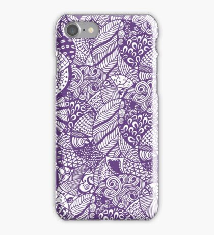 Hand drawn doddle pattern iPhone Case/Skin