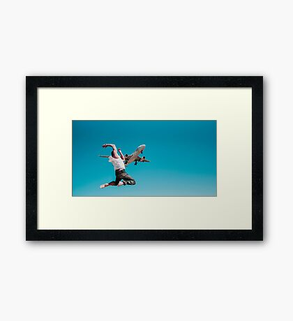 Flying Framed Print