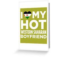 I Love My Western Saharan Boyfriend Greeting Card