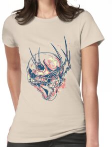 THE SPIDER AND THE SKULL Womens Fitted T-Shirt