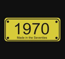70s Number License Plate T-Shirt ~ 1970 ~ Born in the Seventies Clothing by deanworld