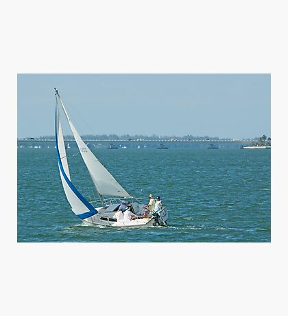 Tacking in the Wind Photographic Print