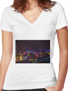 China Women's Fitted V-Neck T-Shirt