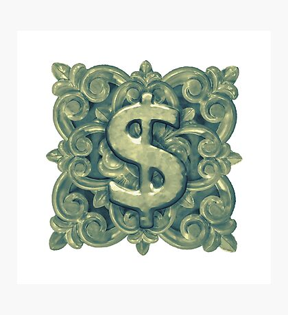 Money Symbol Ornament Photographic Print