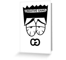 "Creative Gang ""faded"" Greeting Card"