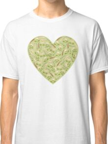 Green  botanical pattern. Classic T-Shirt