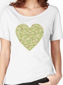 Green  botanical pattern. Women's Relaxed Fit T-Shirt