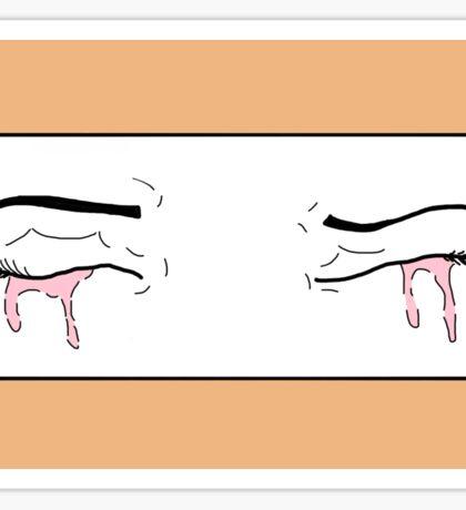 Pink Tear Sticker