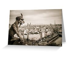 Gargoyles of Notre-Dame Greeting Card