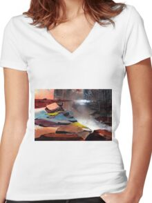 Ready to Leave Women's Fitted V-Neck T-Shirt