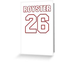 NFL Player Evan Royster twentysix 26 Greeting Card