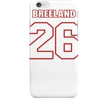 NFL Player Bashaud Breeland twentysix 26 iPhone Case/Skin