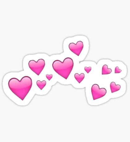 Emoji Hearts Sticker