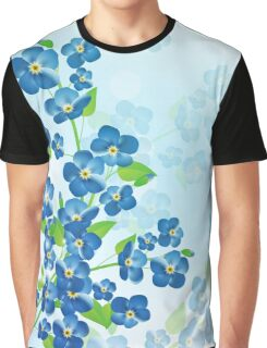 Forget Me Not Flowers Graphic T-Shirt