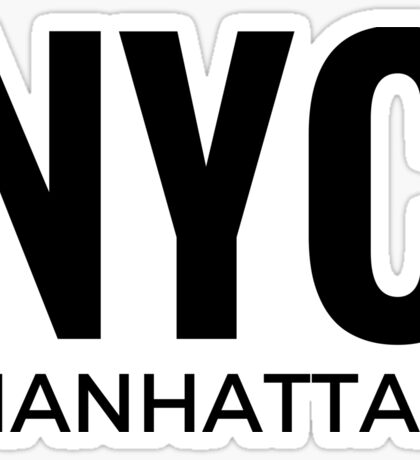 NYC Manhattan Text Sticker For New York City Lovers Sticker